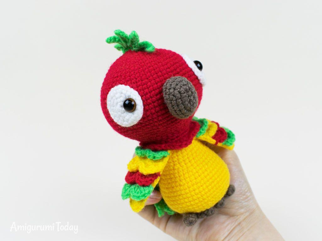 Pedro the Parrot crochet pattern | Amigurumi | Pinterest