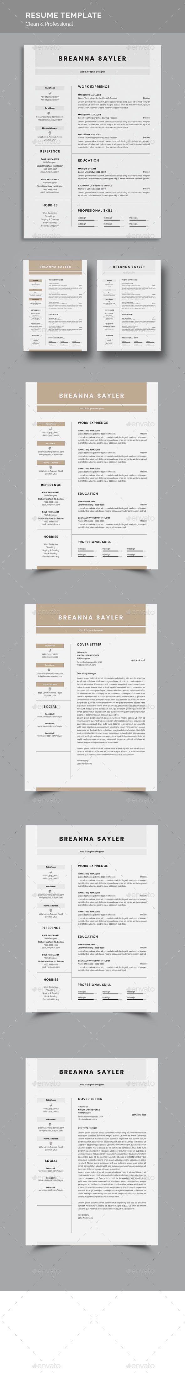 Resume Resume design template, Cover letter for resume