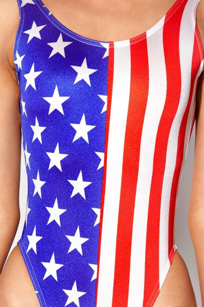 e39f95821bc 2014 American Flag printing Summer One Piece Swimsuit Women's/Girl's Set  Swimwear O-neck Sexy Female Monokini Beach Fashion $9.80