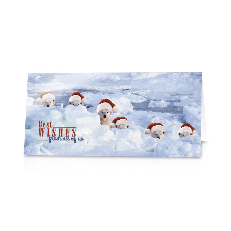 """Lustige Neujahrskarten """"Eisbären"""" Bestellen Sie nur bei"""
