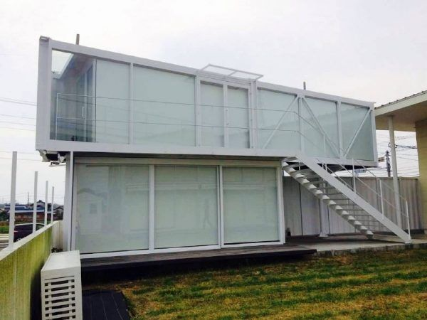 2-stöckiges Containerhaus in Japan | Container House | Pinterest ...