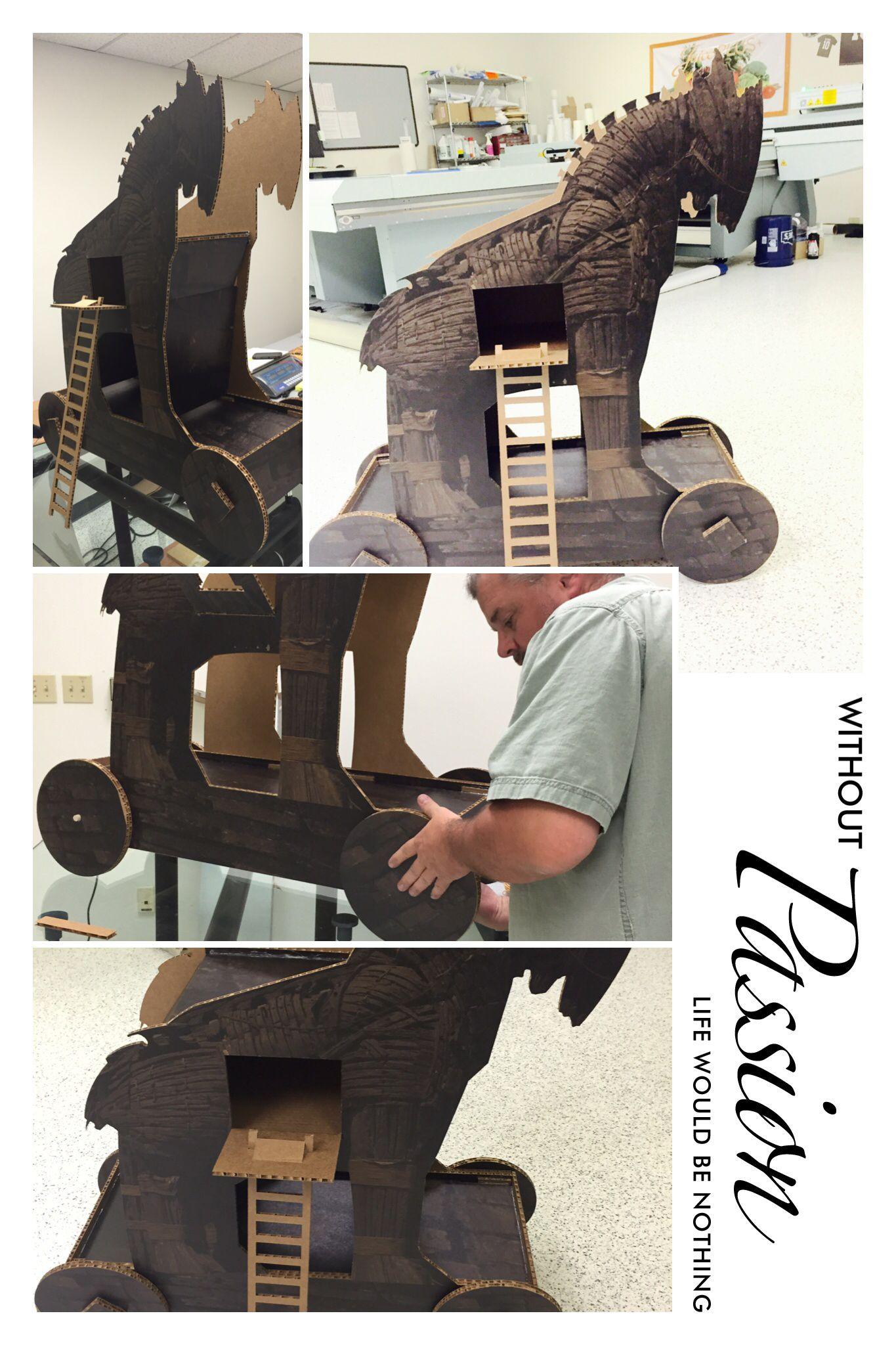 3d Trojan horse school project. | FalconBoard Designs~ Clover Mill ...
