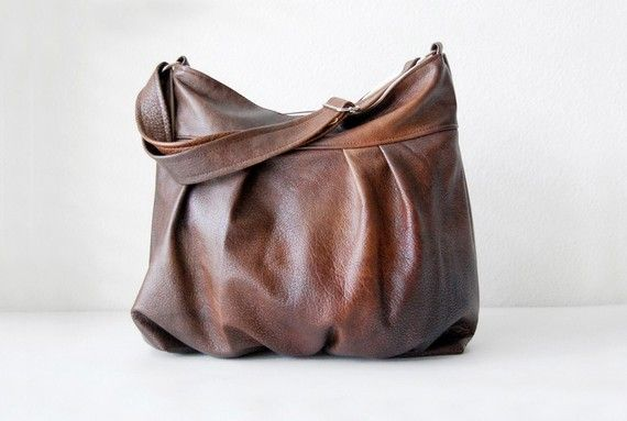 Baby Ruche Bag in Aztec Brown Leather