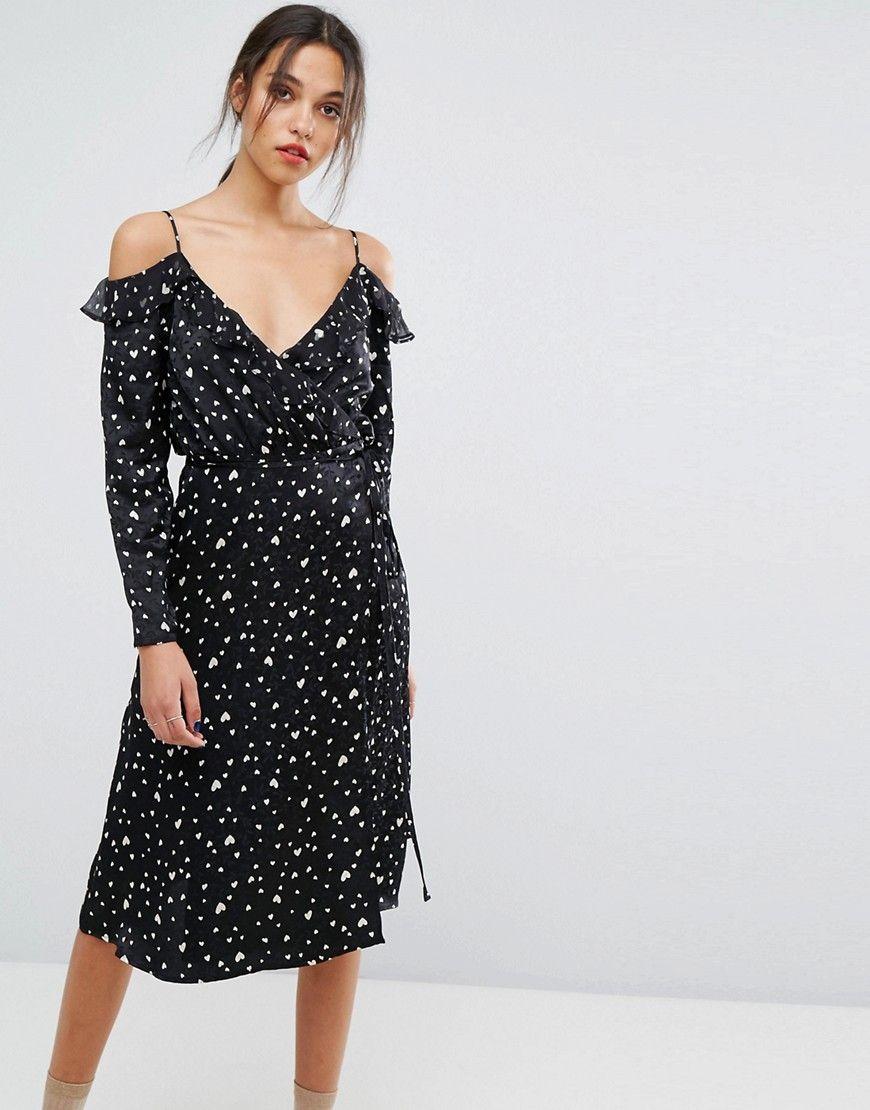 Oba Long Sleeved Dress - Black Essentiel n5FXtKW8