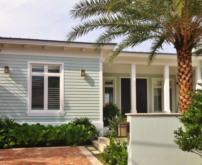 Lovely Marvelous Exterior Paint Color Schemes Technique Miami Tropical Exterior  Decoration Ideas With Beach House Brick Paving Bungalow Entranceu2026