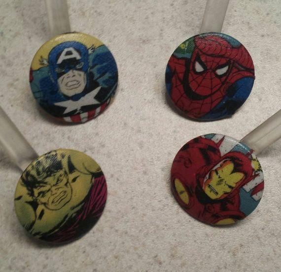 Marvel Superhero Shower Curtain Hooks/rings By CraftyDadandKids