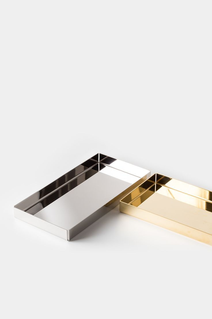 E ito tray in silver and gold minimal trendy tray stationery