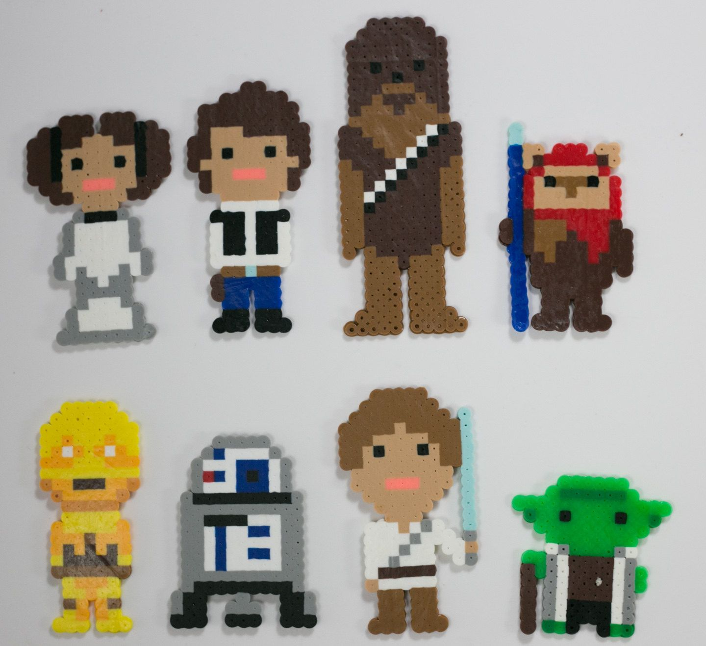 Star Wars Good Guy Pack Perler Pixel Art - Luke Skywalker Yoda ...