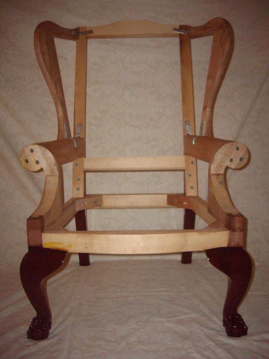 wingback chair frame plans - Google Search | Upholstery | Pinterest ...