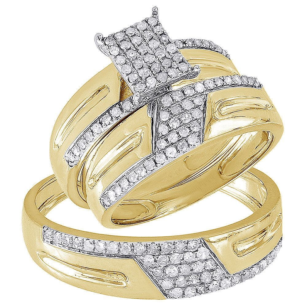 43+ Trio wedding rings his and hers info