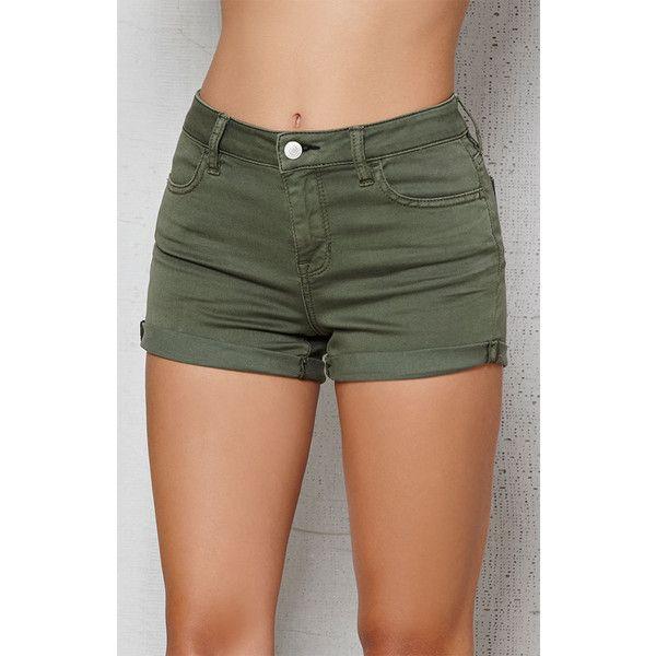 PacSun Dusty Green Mid Rise Super Stretch Denim Shorts ($47 ...