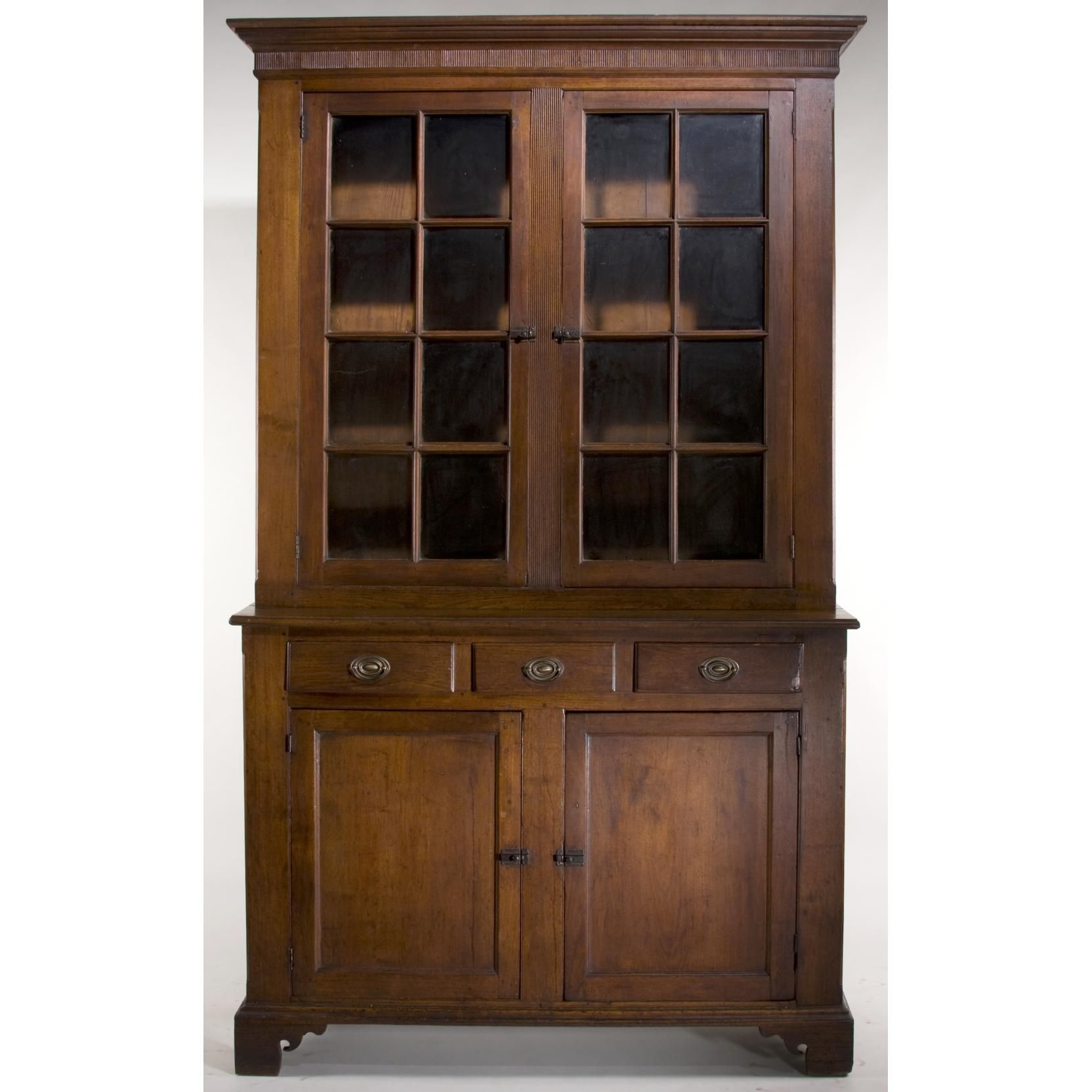 Excellent Southern Chippendale Stepback Cupboard Sold 12 000 Southern Furniture American Furniture Antique Furniture