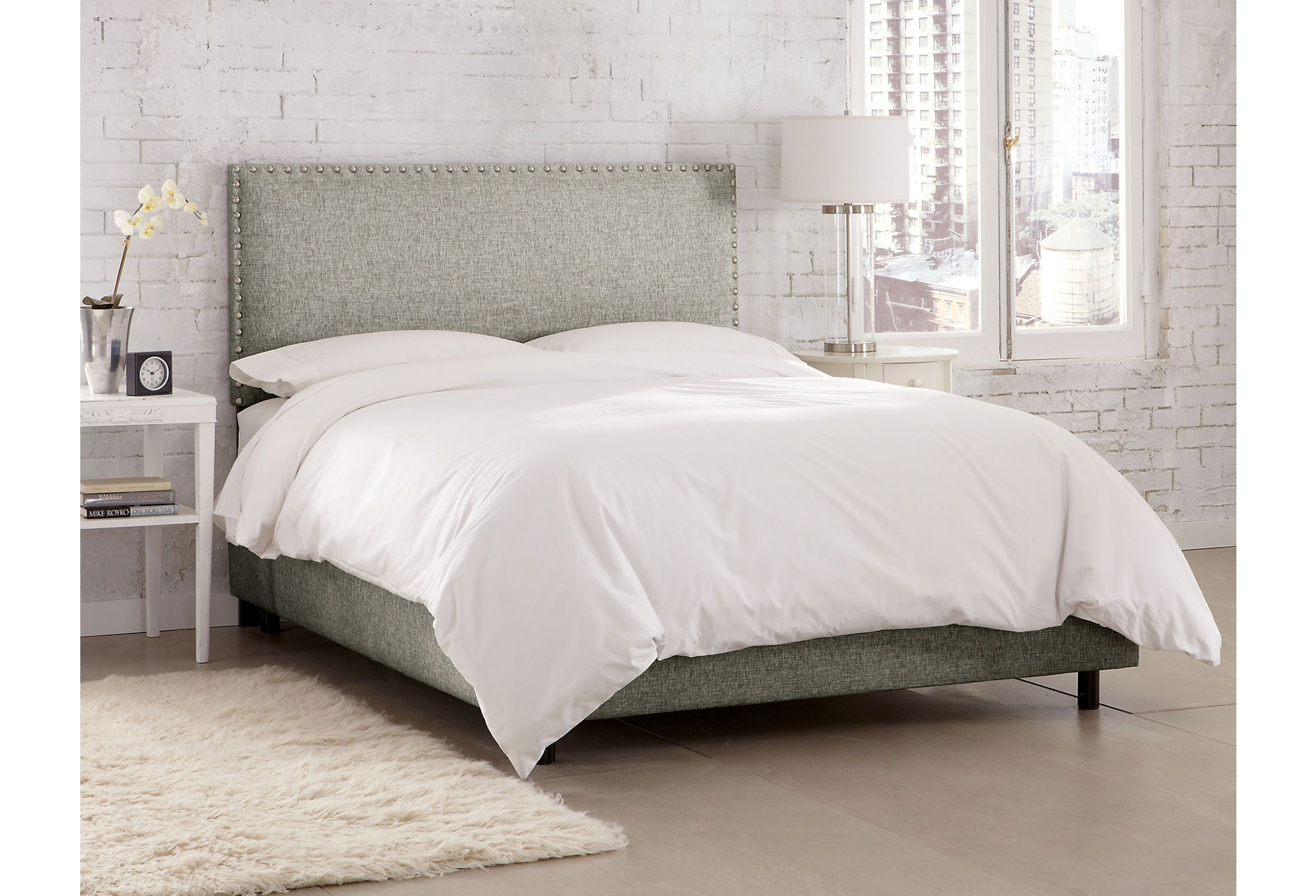 One Kings Lane - Mix It Up - Loren Bed, Gray