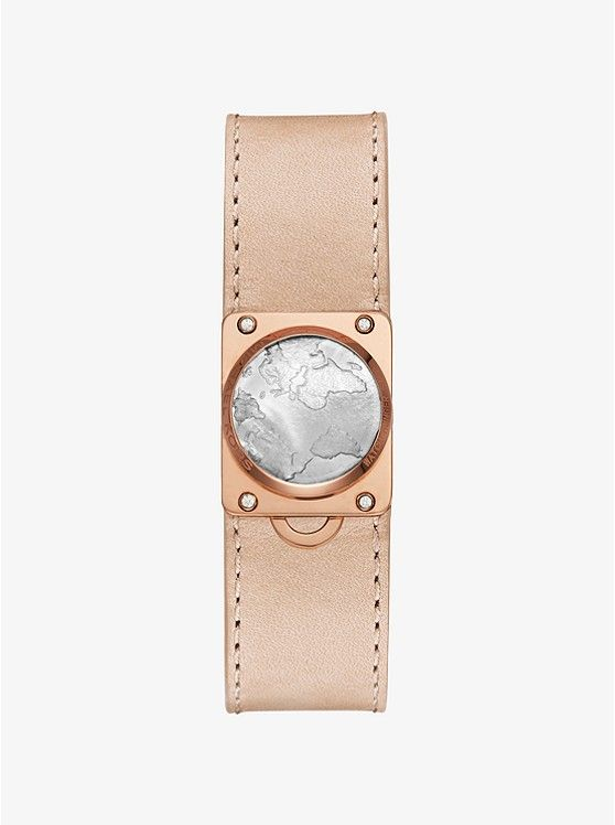 Watch Hunger Stop Michael Kors Reade Rose Gold Tone Activity Tracker Michael Kors Access Watch Leather Watch Bands Rose Gold Watches