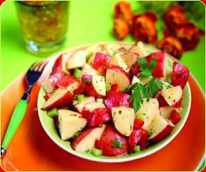 Red potato salad!  I want to try this!  It looks so refreshing for a hot day!