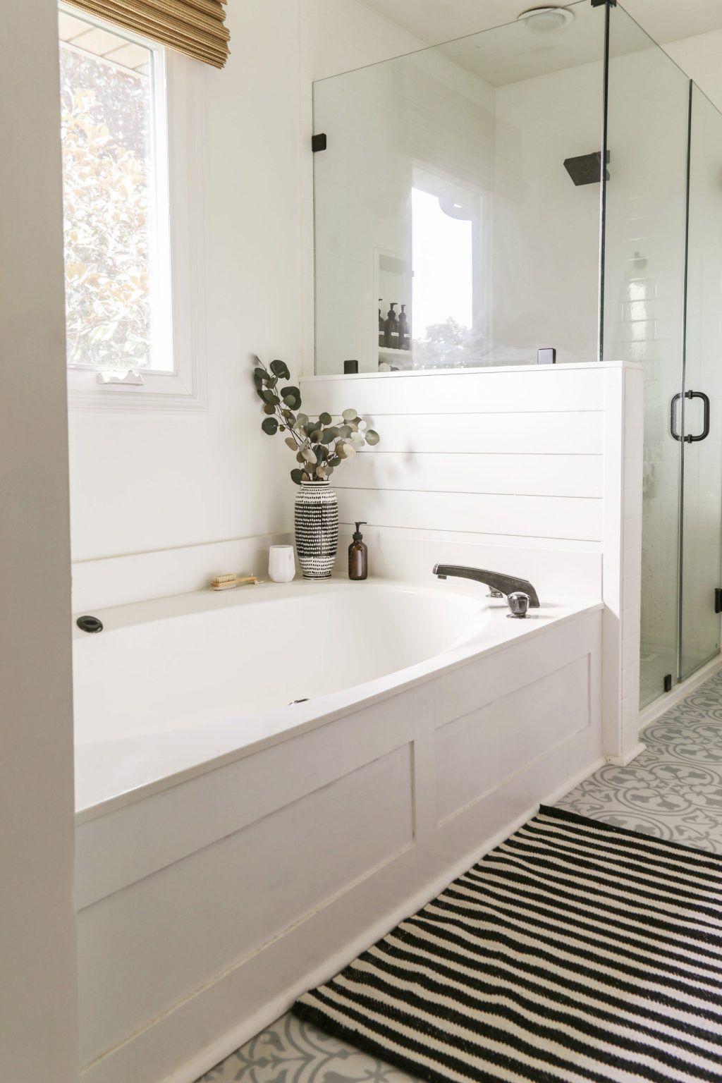 DIY Bath Tub Skirt for Under $25 - Jacuzzi Bath Side Panel Transformation