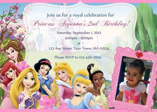 disney princess invitations | birthday invitations | pinterest, Birthday invitations