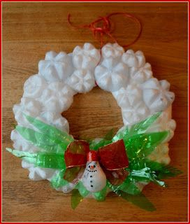 Xmas Wreath From Recycled Materials Christmas Tree Paper Craft Recycled Christmas Decorations Diy Christmas Tree