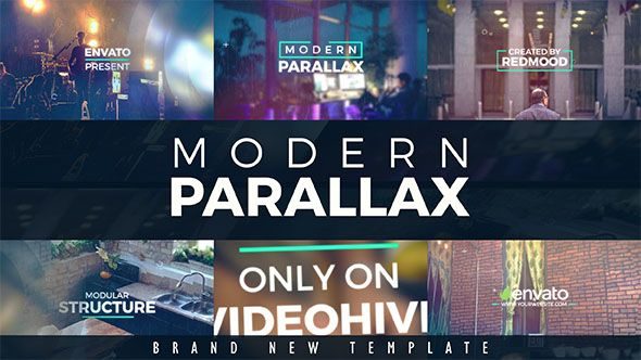 Modern Parallax Slideshow (Abstract) #Envato #Videohive #aftereffects