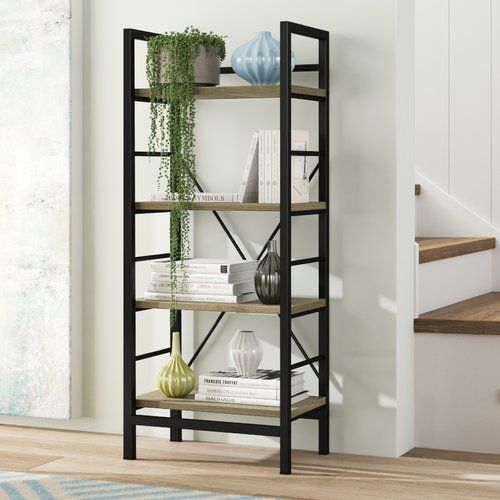 Mercury Row 120cm Bookcase Bookcase Metal Bookcase Adjustable