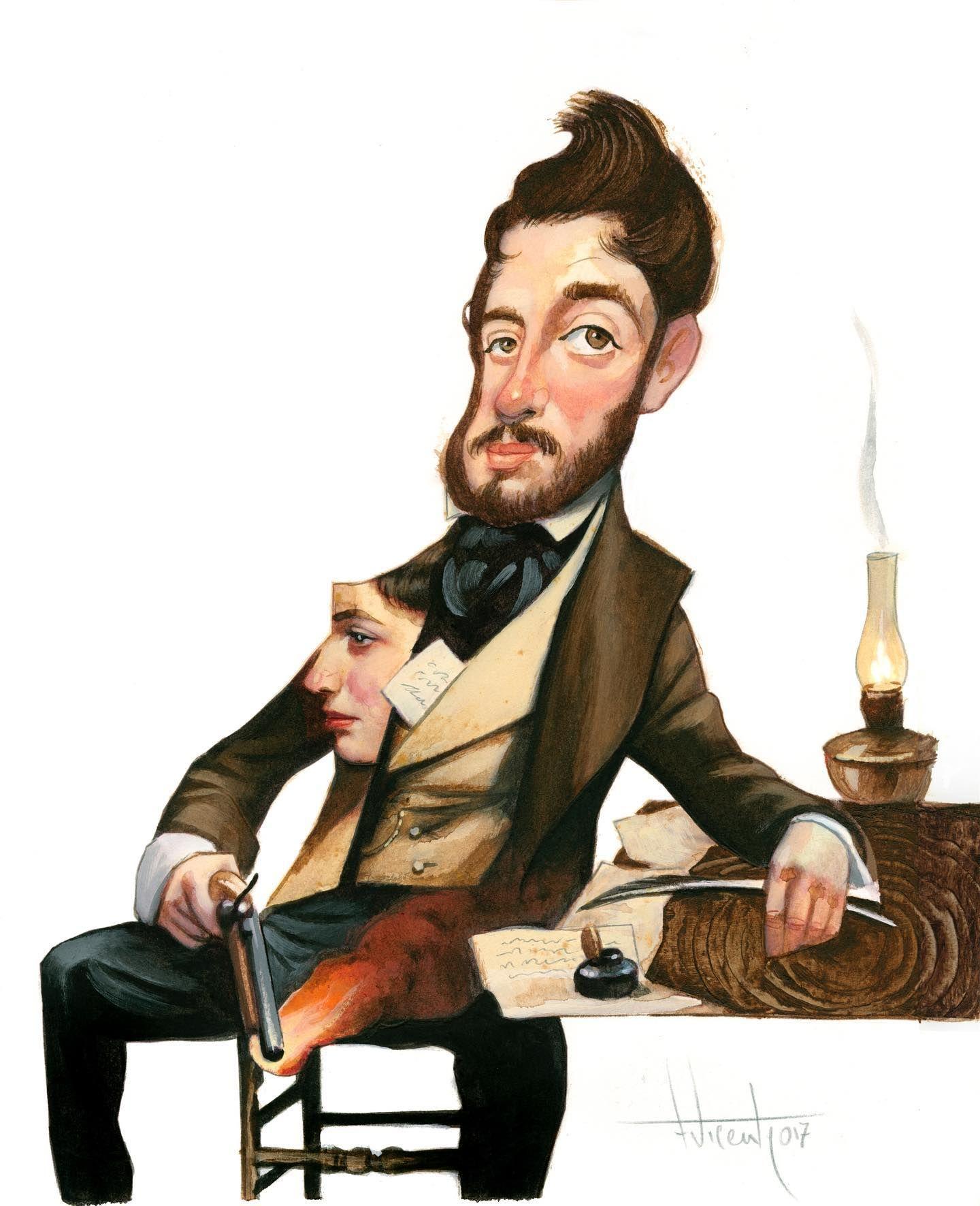 Taldiacomohoy Aniversario Del Nacimiento De Mariano José De Larra El 24 De Marzo De 1809 Male Sketch Art Fictional Characters