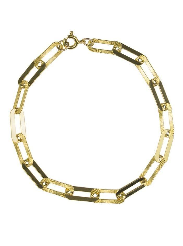 George Long Link Bracelet in Gold or Silver - Silver