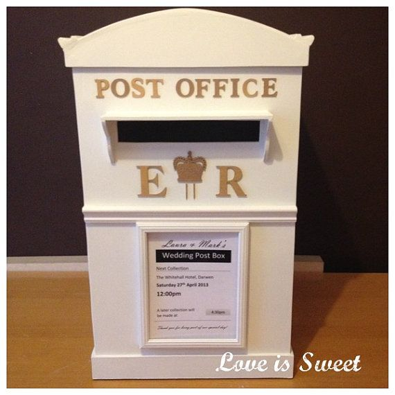 Post Wedding Gifts: Wooden Handmade Wedding Post Box For Cards & Gifts By
