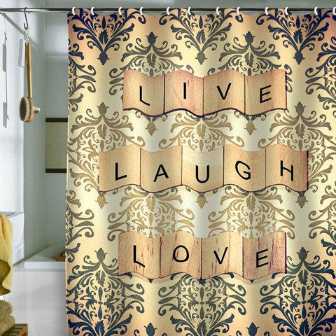 Live Love Laugh Curtains Decor
