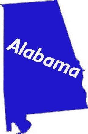 Alabama State Outdoor Vinyl Decal UV Resistant Custom Made State - Custom windo decals for jeeps