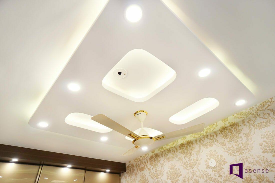 Mantri Webcity Apartment In Thanisandra Bangalore Asense Interior Interior False Ceiling
