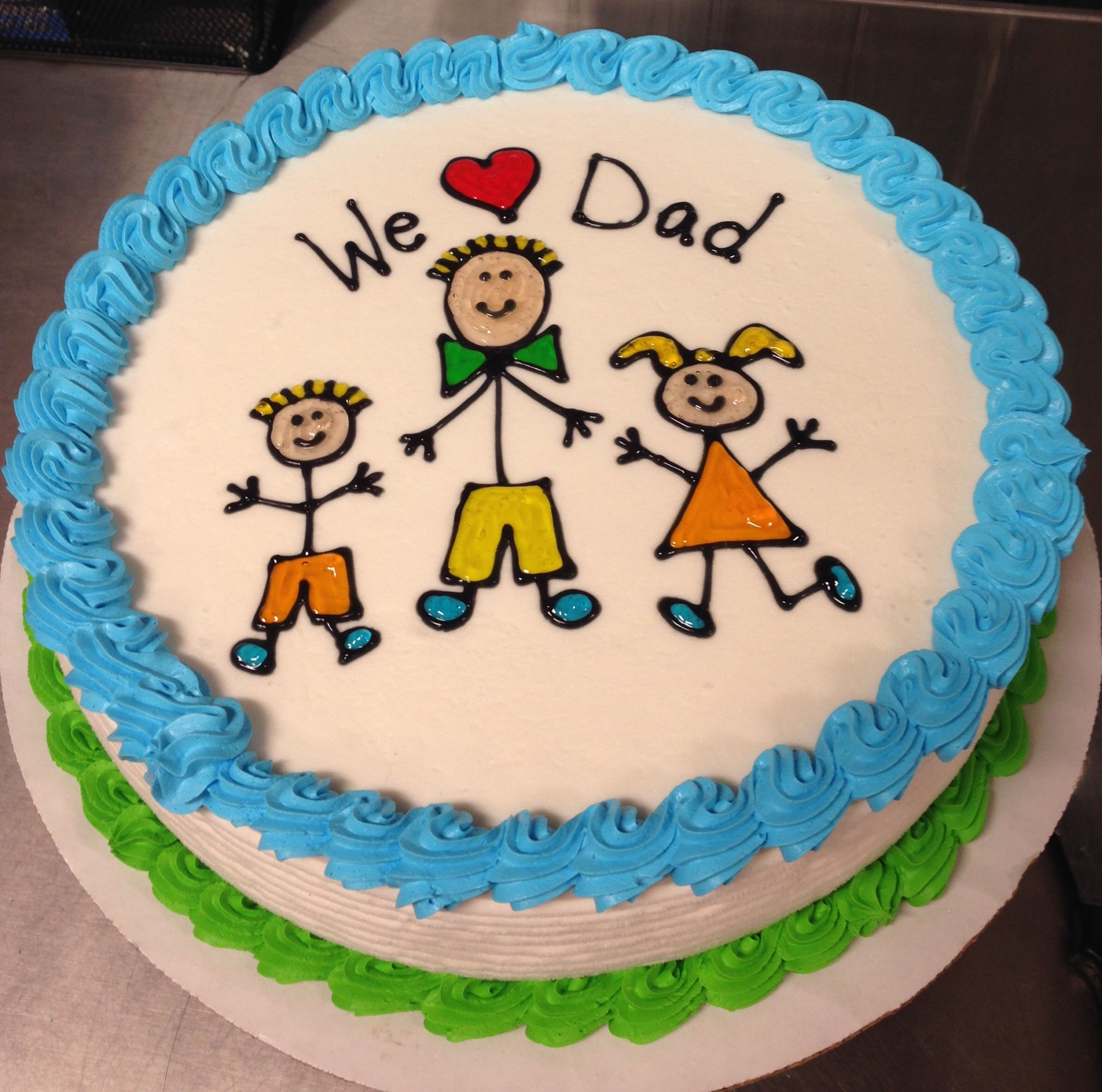 Father S Day Dq Ice Cream Cake With Images Dad Birthday Cakes