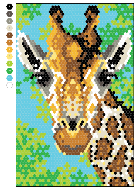 Geometric Grid Giraffe By Joanna Webster From Colour Quest