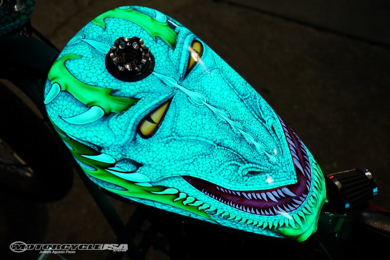 Darkside Scientific Lumilor Electroluminescent Coating Motousa Motorcycle Paint Jobs Tank Custom