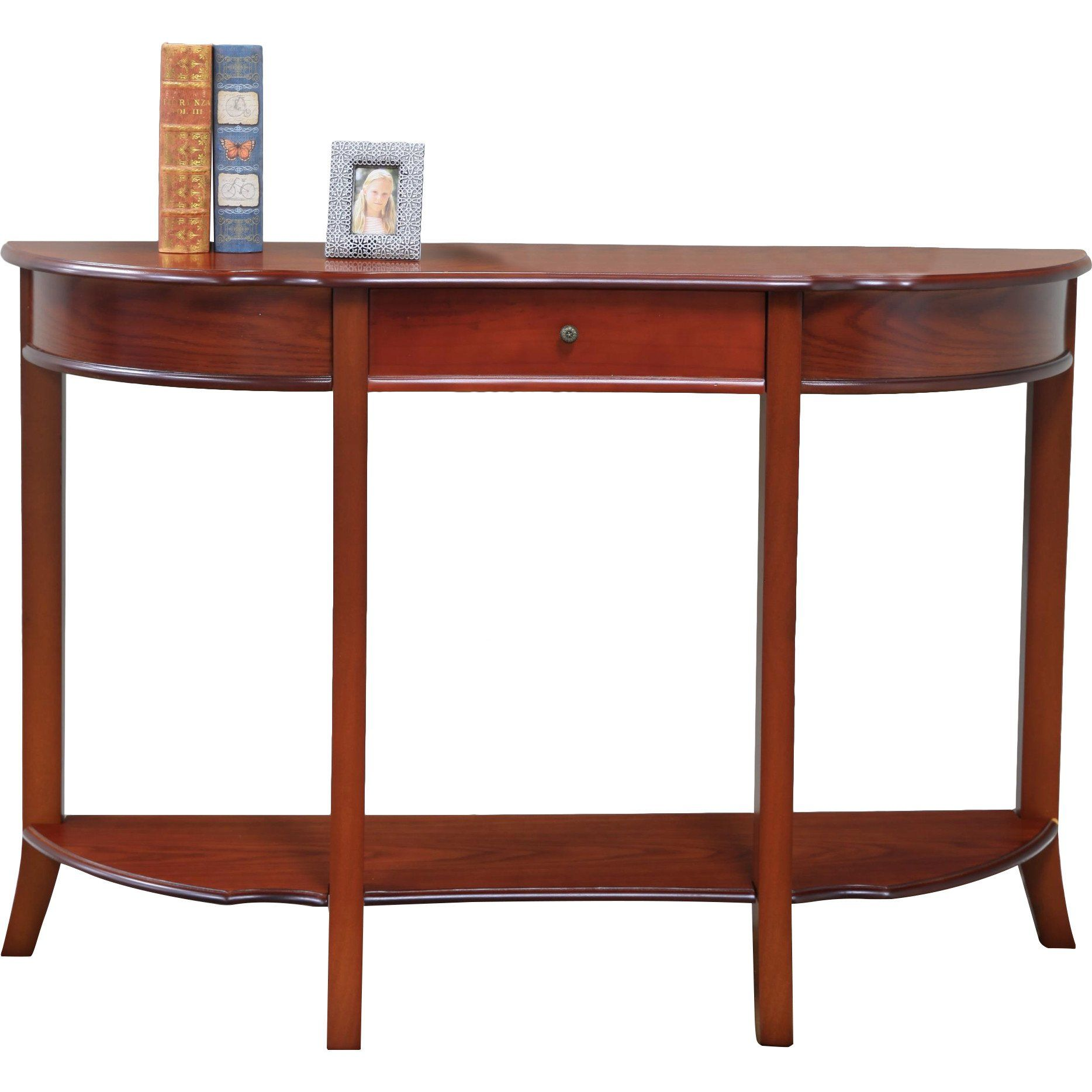 Elegant Style Halfcircle Console Table Solid Wood In Walnut Finish 31 5 H X 47 W 12 D For More Information Visit Image Link