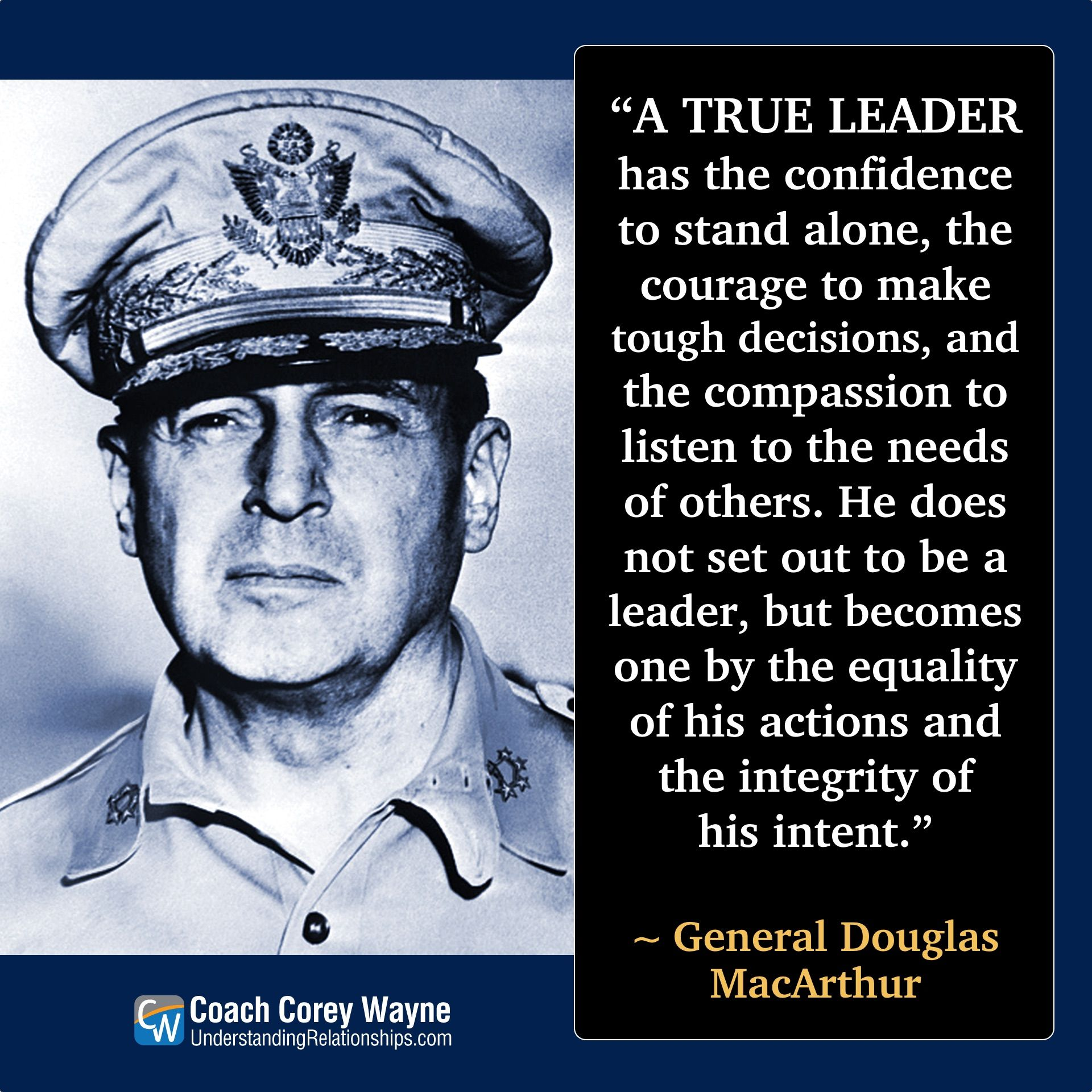 douglasmacarthur #american #army #general #military #wwii #leadership  #confidence #integrity #decisions #courage #comp… | Leadership, Douglas  macarthur, Self help
