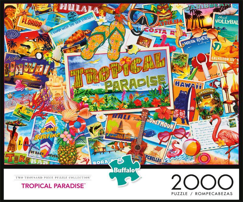 Tropical Paradise 2000 Piece Jigsaw Puzzle Buffalo Games Jigsaw
