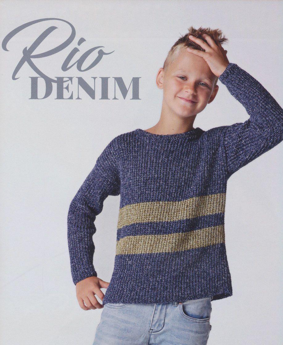 60d4b1e3f52ecf Breipatroon eenvoudig te breien jongens trui met strepen. Deze trui is  gebreid van het Lammy
