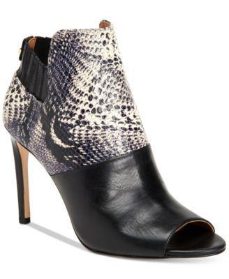 CALVIN KLEIN Calvin Klein Women'S Sarine Peep-Toe Ankle Booties. #calvinklein #shoes # all women
