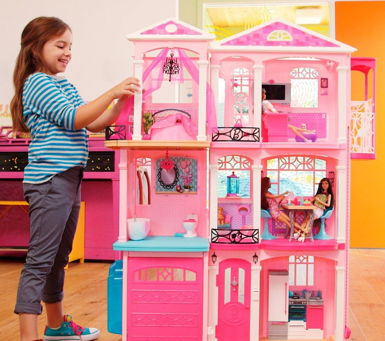 Barbie Dream House With Elevator Top Girls Toys But Boys Can