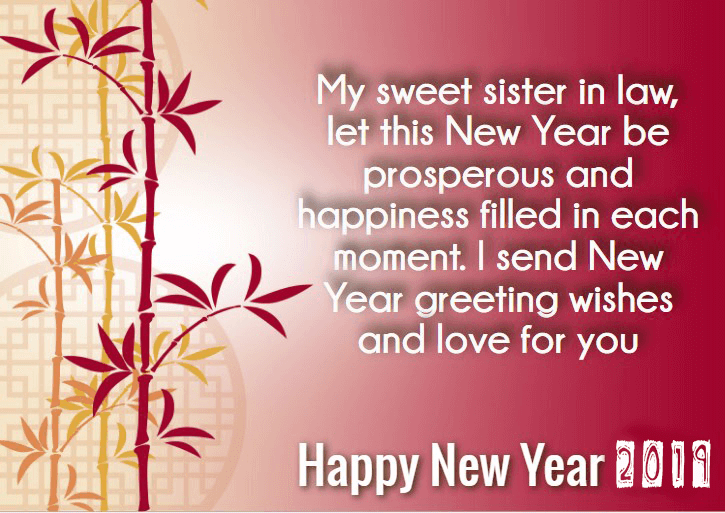 Best New Year 2020 Wishes for Sister in Law | Happy new ...