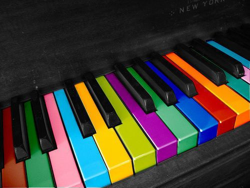 this is so interesting when you think about the forms of perfect pitch where the individual actually sees specific colors associated with certain keys or modals or even just notes :0) I want THEM to make me a piano!