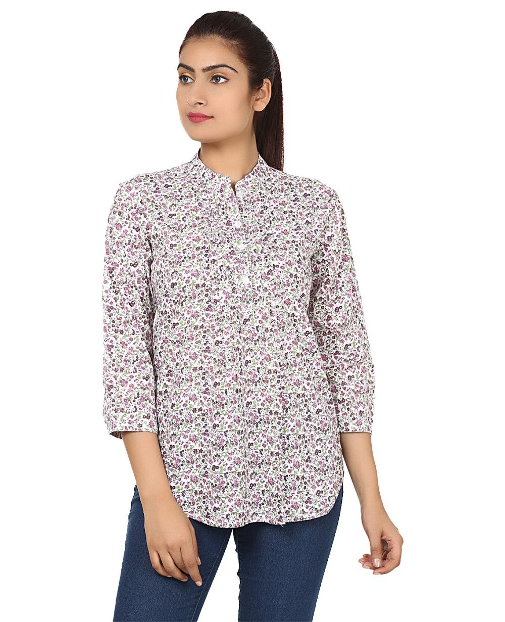 629a550771040 Buy Printed Pink Color Cotton Shirt Online