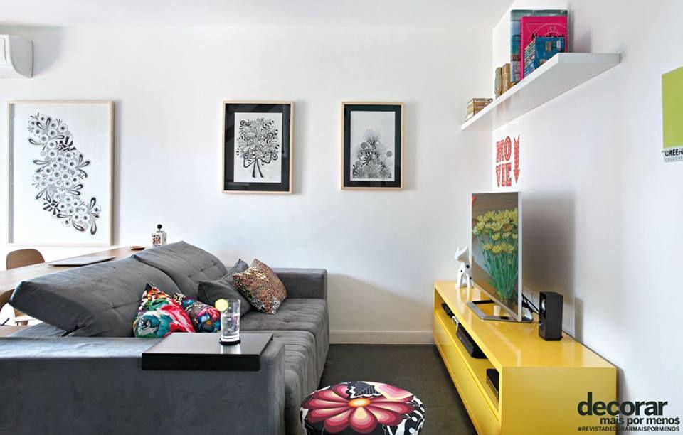 Sala De Tv Com Rack Amarelo ~ rack amarelo  Rack amarelo  Pinterest  Rack amarelo, Rack e