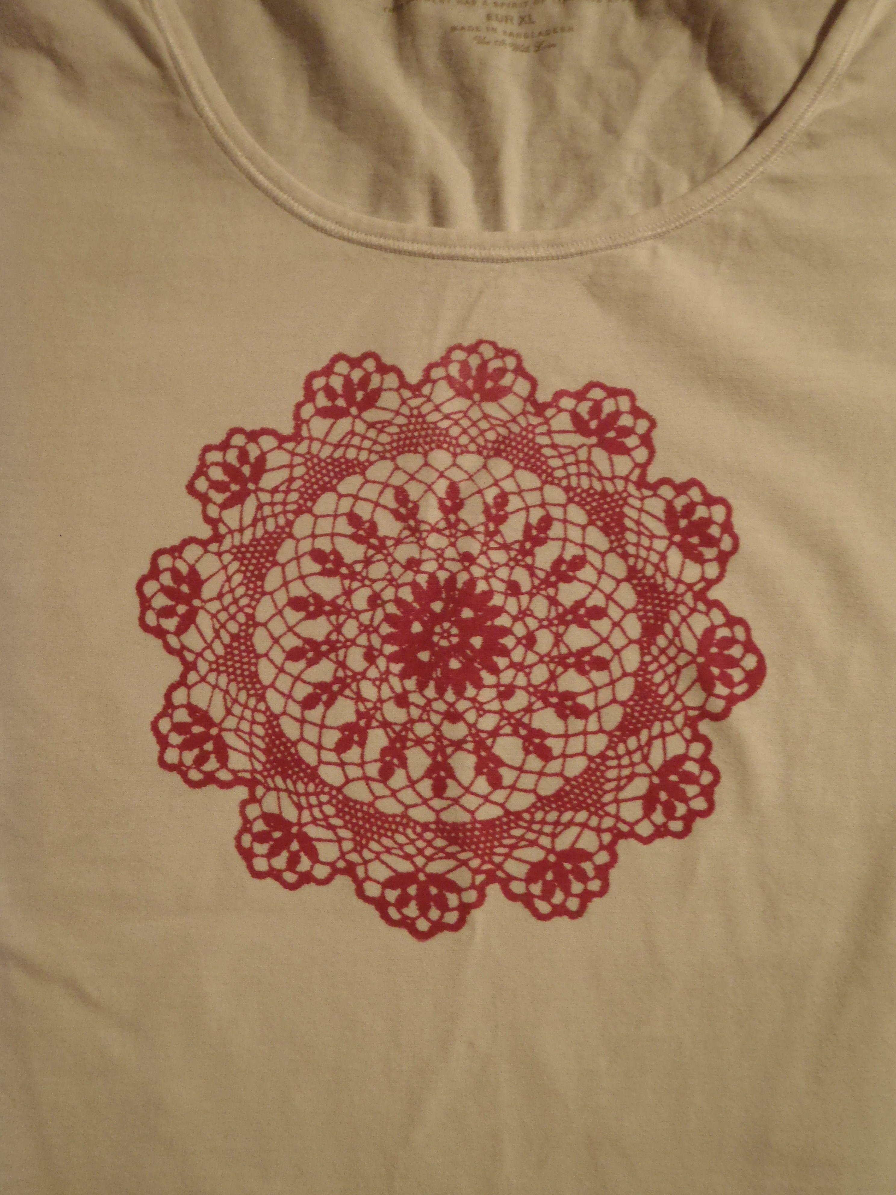 T-paitojen tuunausta kankaanpainantakurssilla.