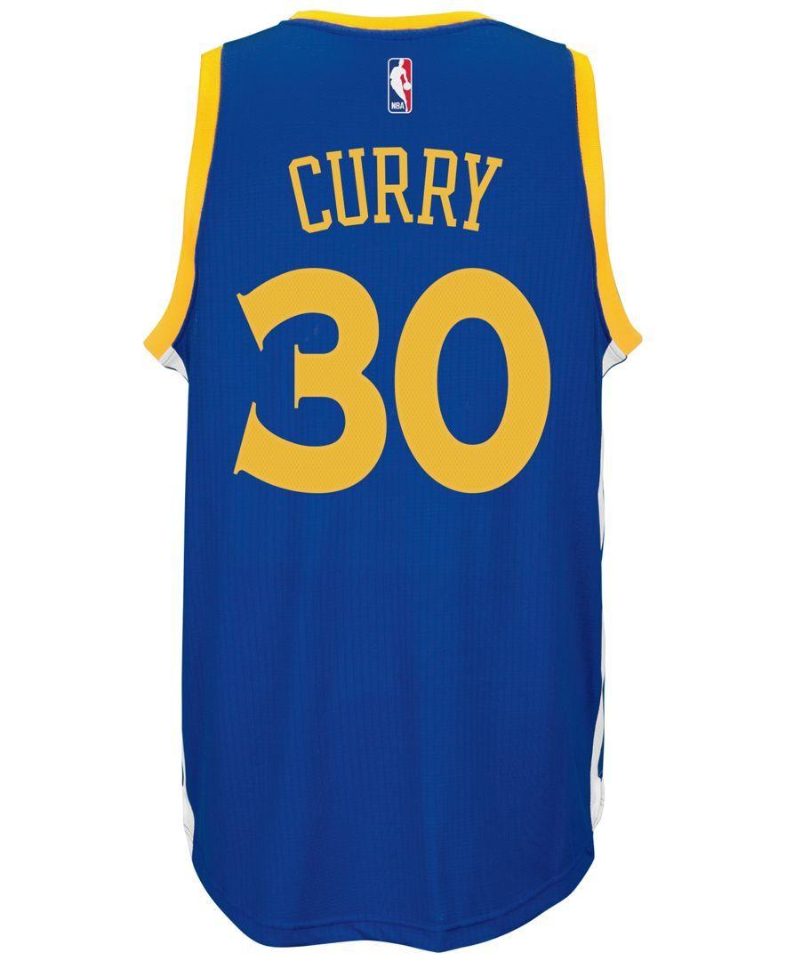 5eb6df8e adidas Men's Stephen Curry Golden State Warriors Swingman Jersey ...