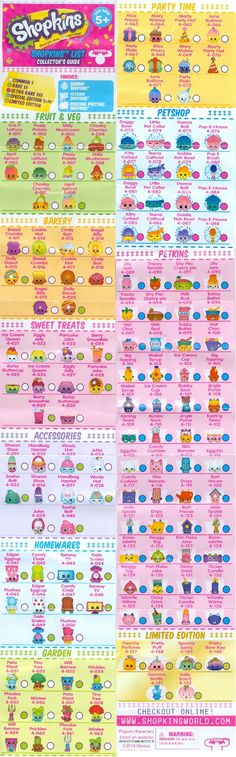 picture regarding Shopkins List Printable named Bloo n Things: My Obsessions #2 Ladies Shopkins
