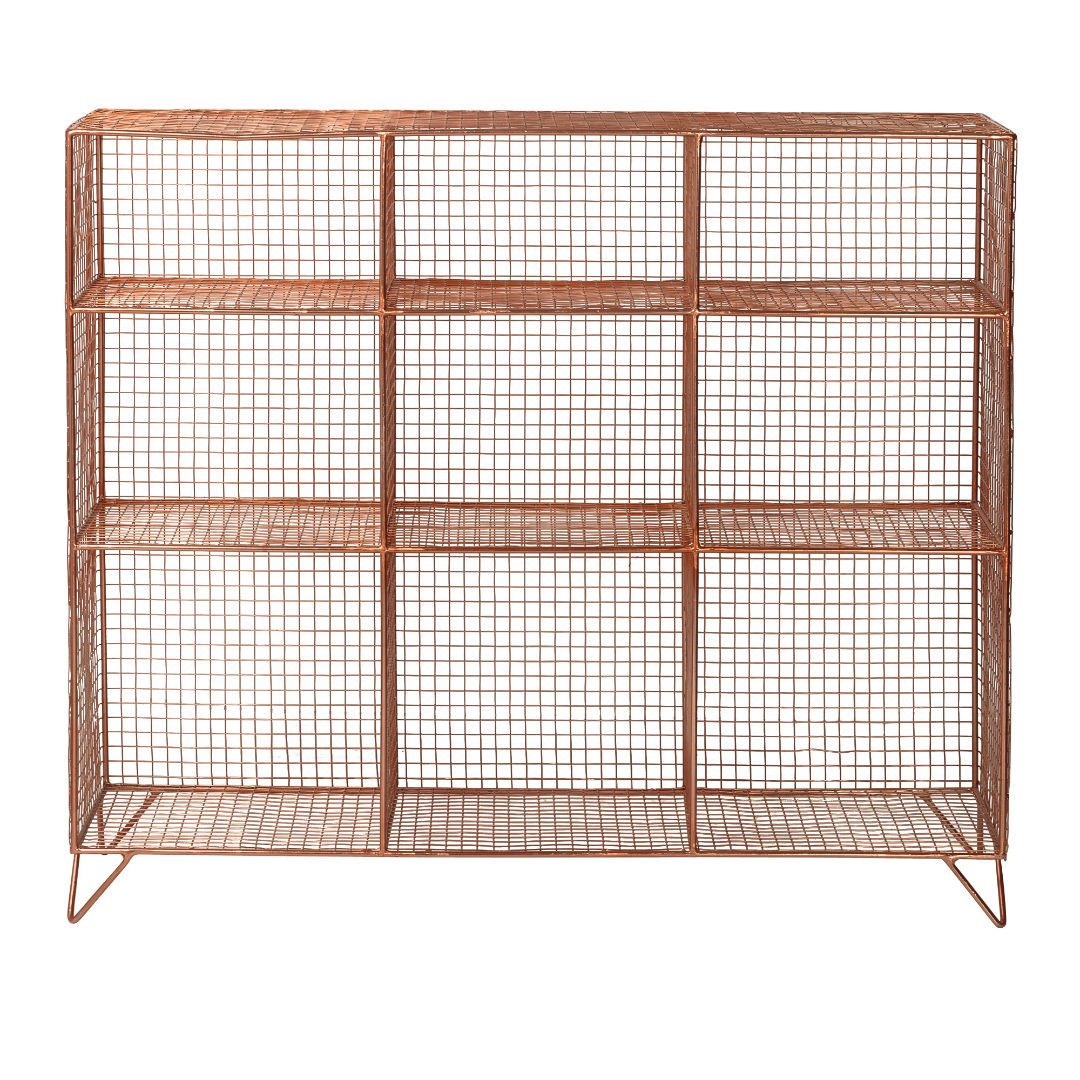Buy the Copper Grid Nine Shelf Storage Unit at Oliver Bonas. We ...