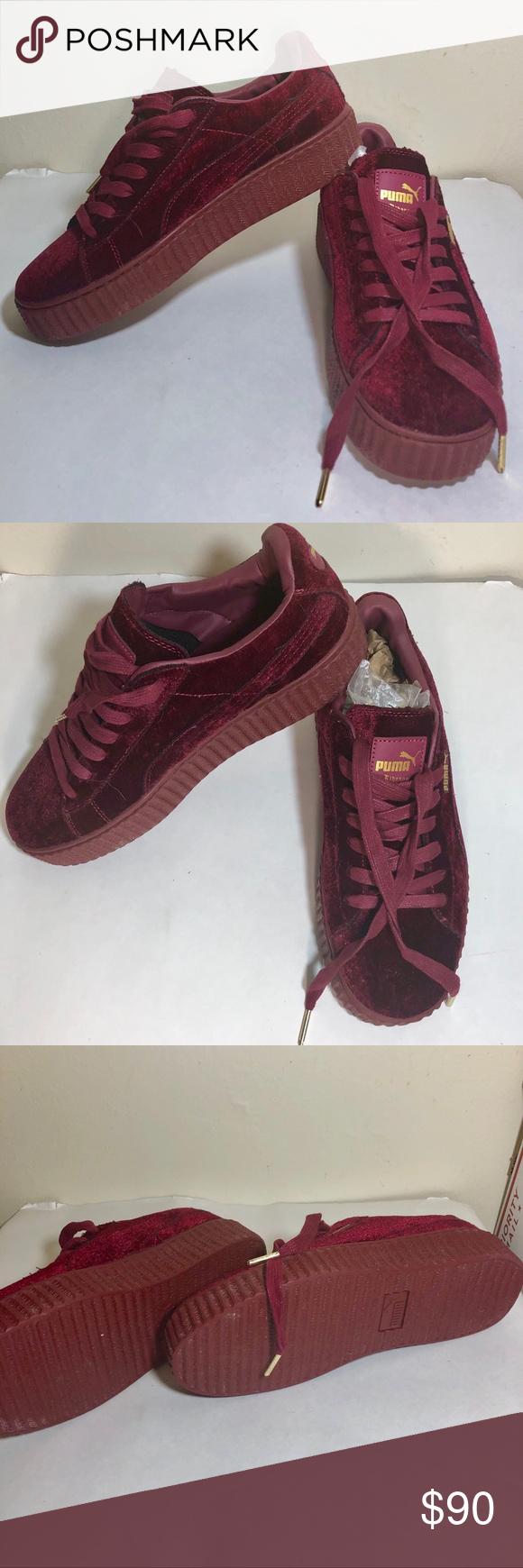 sports shoes 2b4f0 a99cb Women's Puma Rihanna Fenty Red Velvet Creeper 8.5 Women's ...