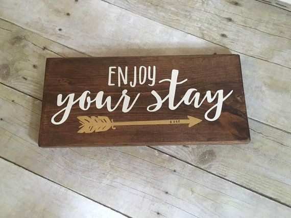 Guest Room Sign Decor Amazing Wood Sign Enjoy Your Stay Sign Guest Room Decor Vacation Home Design Decoration