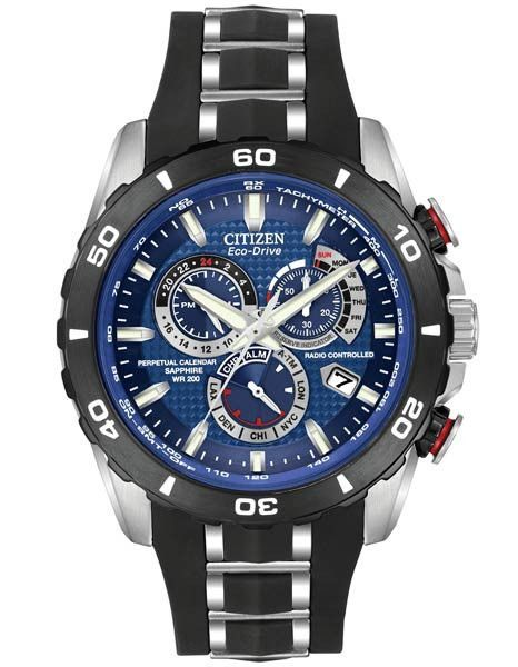 a7b18b5da This Citizen Limited Edition Perpetual Chrono A-T combines Eco-Drive  technology with atomic timekeeping to make this watch the most accurate in  the world.